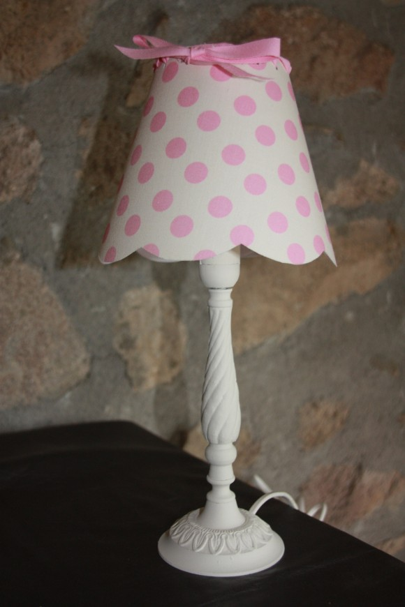 lampe pois rose