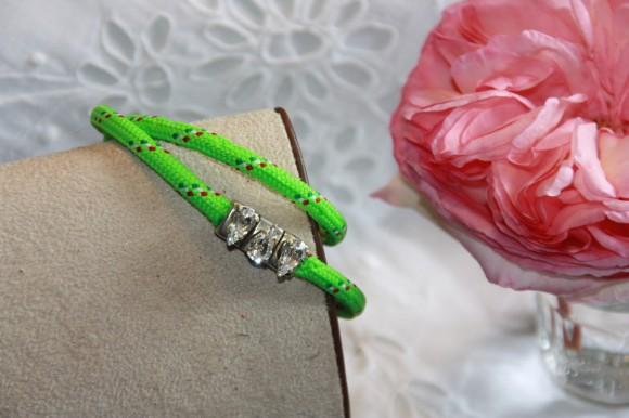 Bracelet vert fluo